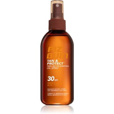 Piz Buin Tan & Protect Protective Accelerating Sun Oil SPF 30