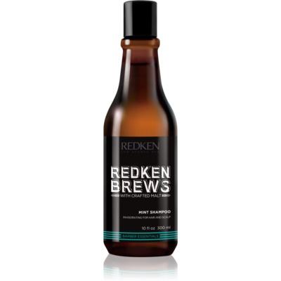 Redken Brews povzbuzující mentolový šampon na vlasy a pokožku hlavy
