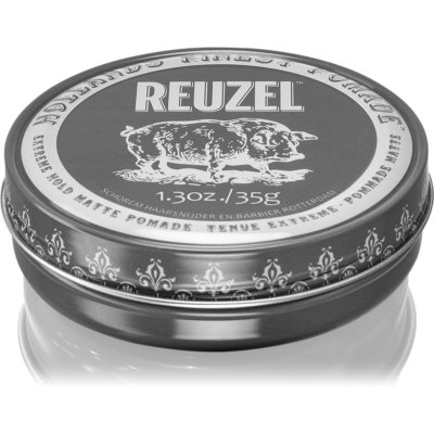 Reuzel Hollands Finest Pomade Extreme Hold pomata per capelli effetto opaco