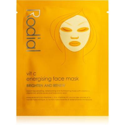 Rodial Vit C plátenná maska pre rozjasnenie a vitalitu pleti s vitamínom C