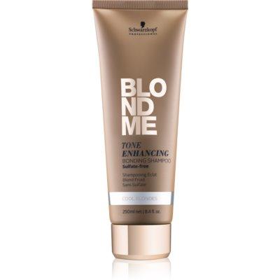 Schwarzkopf Professional Blondme champú sin sulfatos para tonos rubios fríos