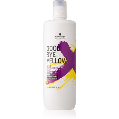 Schwarzkopf Professional Good Bye Yellow Shampoo zum Neutralisieren von Gelbstich für gefärbtes Haar oder Strähnen