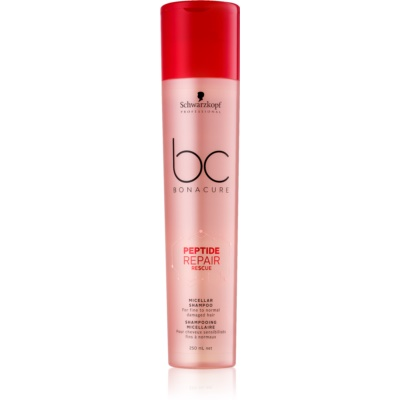 Schwarzkopf Professional BC Bonacure Peptide Repair Rescue Micellar Shampoo For Damaged Hair