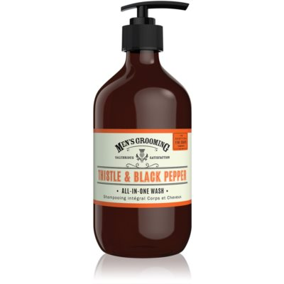 Scottish Fine Soaps Men's Grooming Thistle & Black Pepper Washing Gel for Body and Hair