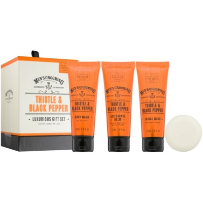 Scottish Fine Soaps Men's Grooming Thistle & Black Pepper coffret cosmétique I. pour homme