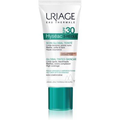 Uriage Hyséac 3-Regul комплексное тонированное ухаживающее средство для устранения недостатков кожи SPF 30