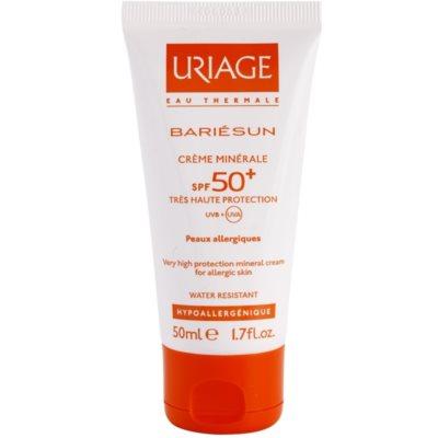 Uriage Bariésun минеральный защитный крем для лица и тела SPF 50+