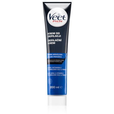 Veet Men Silk & Fresh Moisturizing Depilatory Cream for Sensitive Skin