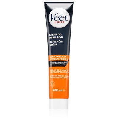 Veet Men Silk & Fresh увлажняющий крем для депиляции для нормальной кожи