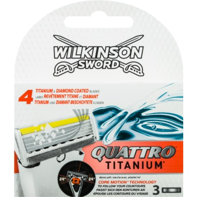 Wilkinson Sword Quattro Titanium Replacement Blades 3 pcs