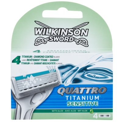Wilkinson Sword Quattro Titanium Sensitive сменные лезвия