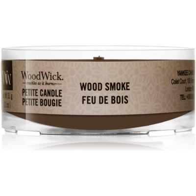 Woodwick Wood Smoke mala mirisna svijeća s drvenim fitiljem