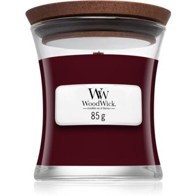 Woodwick Black Plum vela perfumada  con mecha de madera
