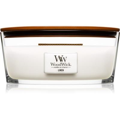 Woodwick Linen duftkerze  mit holzdocht (hearthwick)