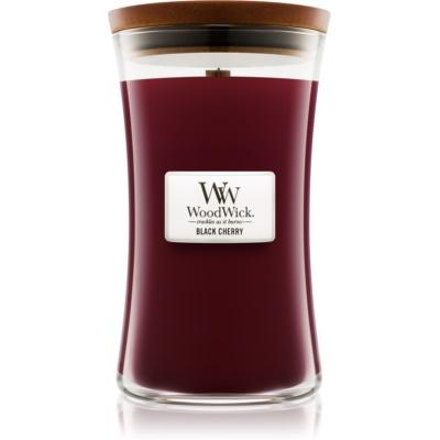 Woodwick Black Cherry duftkerze  mit Holzdocht