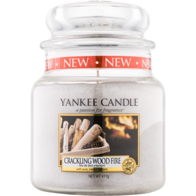 Yankee Candle Crackling Wood Fire scented candle Classic Medium
