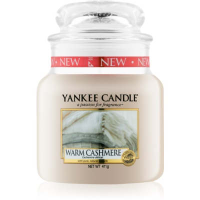 Yankee Candle Warm Cashmere scented candle Classic Medium