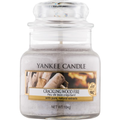 Yankee Candle Crackling Wood Fire scented candle Classic Mini