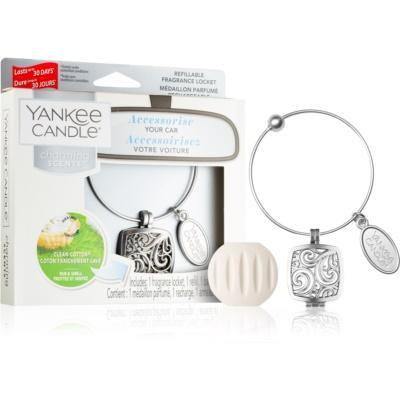Yankee Candle Clean Cotton aроматизатор за автомобил висулка + резервен пълнител (Square)