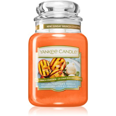 Yankee Candle Grilled Peaches & Vanilla bougie parfumée Classic grande