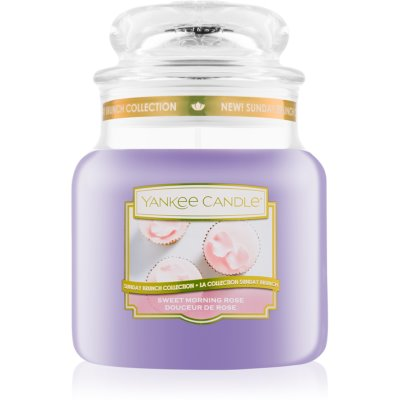 Yankee Candle Sweet Morning Rose scented candle Classic Medium