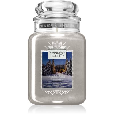 Yankee Candle Candlelit Cabin vela perfumada Classic grande