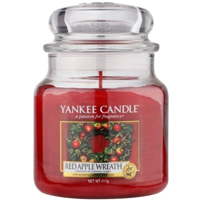 Yankee Candle Red Apple Wreath doftljus Klassisk Medium