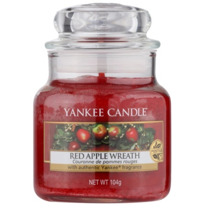 Yankee Candle Red Apple Wreath scented candle Classic Mini