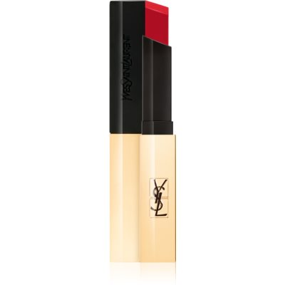 Yves Saint Laurent Rouge Pur Couture The Slim batom mate com efeito de pele