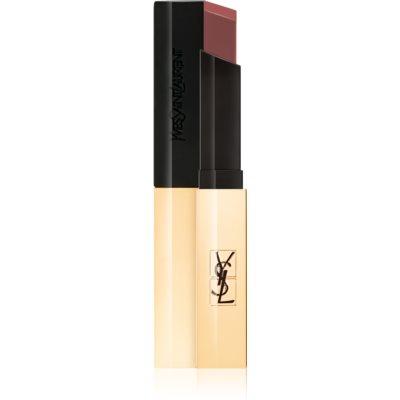 Yves Saint Laurent Rouge Pur Couture The Slim tenká matující rtěnka s koženým efektem